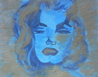 Original painting AJE depicting Marilyn Monroe