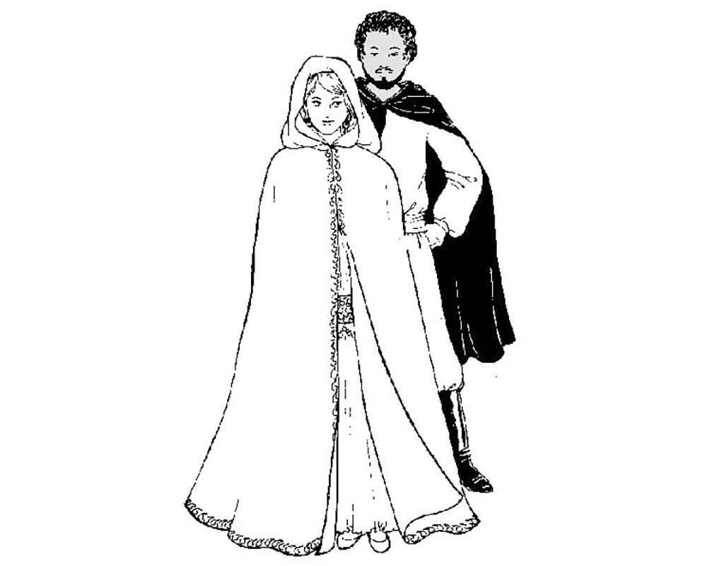 AF31 Badawias Burnoose Cloak Belly Dance Sewing Pattern