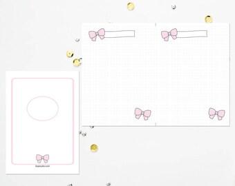 B6 TN Pink Bow Dot Grid