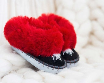 Children's ruby Sheepers slippers