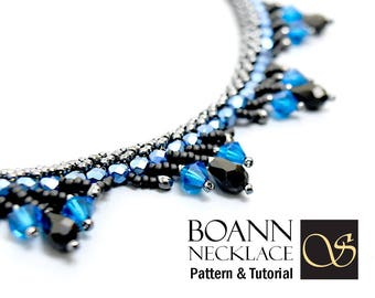 Beaded Necklace Pattern Boann Double Spiral Tutorial