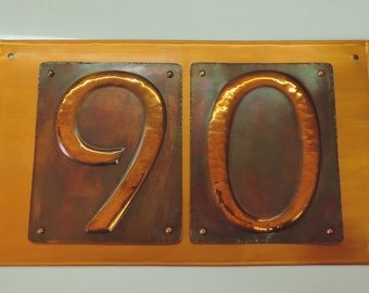 House Number, Copper Number, copper signs, Copper Sign, made to order