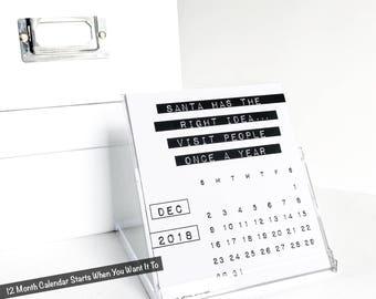Lustige 2018 Tischkalender, Mitarbeiter-Geschenk, dunkle Seelen, unhöflich Büro Humor, frech, sarkastische, Desktop-Zubehör, dritte Ausgabe