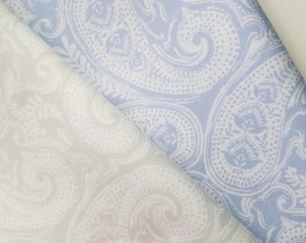 Paisley Fabric, DK Paisley-Annie Gray or Jackie Lavender Cotton Fabric