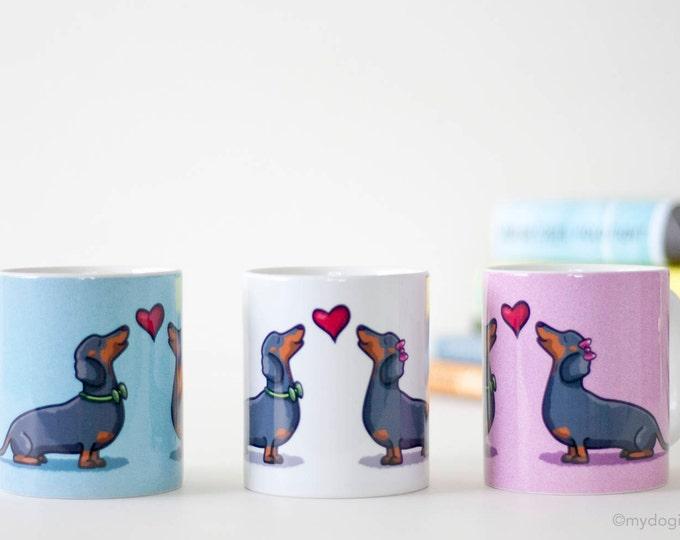 Featured listing image: Dachshund Mug - Dachshund Coffee Mug - I Heart Dachshunds Mug - Dachshund Gifts- Doxie Mug