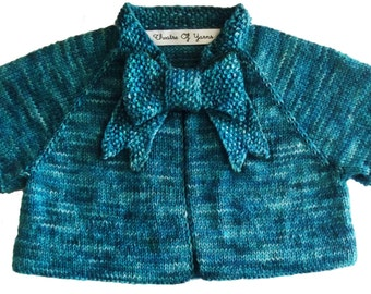 Button Bow Baby .pdf knitting pattern