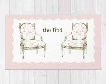 Rug, Two French Chairs, THE FIND