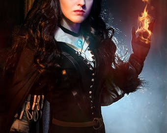 Yennefer cosplay costume from The Witcher 3: Wild Hunt, Yennefer of Vengerberg clothing