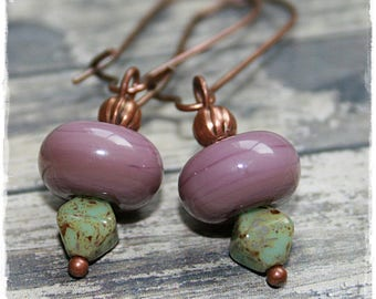 -Pierced earrings - plum - summer Collection-
