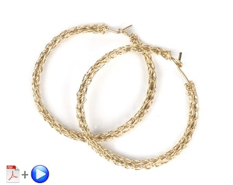 Wire Jewelry Crochet Pattern of YoolaHoops an ONLINE VIDEO pattern PDF jewelry instructions hoop earrings tutorial