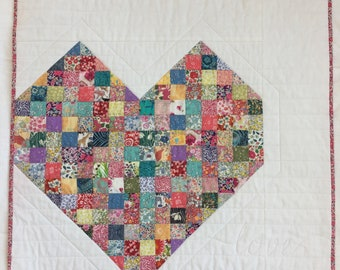 Liberty of London Love Quilt / Wall Hanging