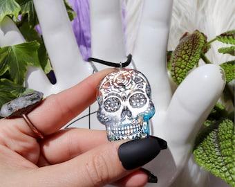 Orgonite® - Orgonite® Pendant - Skull - Necklace - Handmade - Orgone Generator® - Crystals - Gift - EMF Protection - HoodXHippie