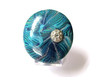 Aquamarine ring Blue ring gift for women Adjustable ring Boho ring gift Ocean ring Cute Czech crystal ring Ring for women Beach style ring