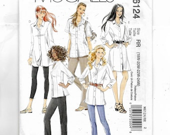 McCall's Misses'/Miss Petite and Women's and Women's Petite Shirts In Three Lengths Pattern 6124