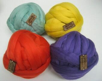 1 LB / 450 gr / 72 colors / 19 mic. Super Chunky Merino Yarn. Giant Knitted Wool. Big Yarn. Grande Punto. Big stitch yarn by woolWow!