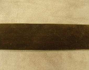3 velvet Ribbon, 5 cm - Brown