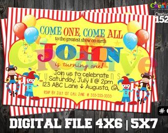 Circus Party Invitation | Circus Invitation | Custom Party Invitation | Circus Party Printable | Circus Party | Printable Invitation