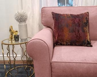 Brown Boho Pillow Case -  Throw Pillow Cover - Decorative Pillow Case - Housewarming Gift - Bohemian Decor - Gift for Her - Wedding Gift