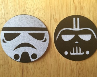 Star Wars Inspired Felt Coasters