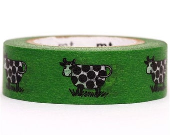 181953 green cow mt Washi Masking Tape deco tape