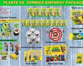 ZOMBIES birthday package- Plants vs Zombies birthday party