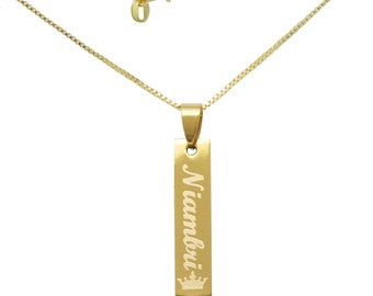 Skinny Vertical Bar Necklace,New Mom Necklace,Name Bar Necklace,Kids Names Necklace for mom,Gifts for Mom