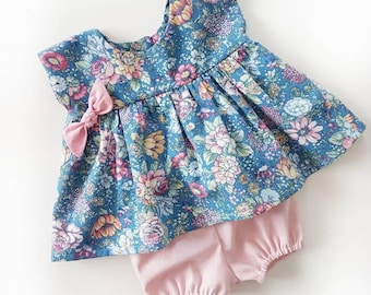 The Grace Dress/Tunic | Country Floral | Spring & Summer Dress | RTS | 0-3months