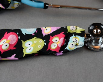 Stethoscope Cover Summer Print   Owl Print Stethoscope Cord Cover    Nurse Doctor Gift   Stethoscope Sock   Stethoscope Accessories