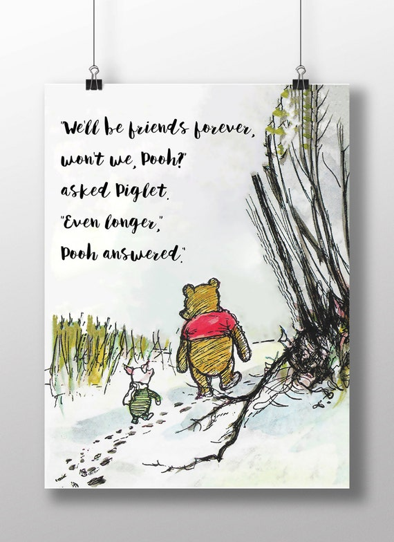 Elegant Winnie The Pooh Quotes Weu0027ll Be Friends Forever