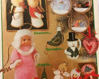 Christmas Is Snowballs Banners Spangles Angels and Little Surprises Ornaments to Make Booklets