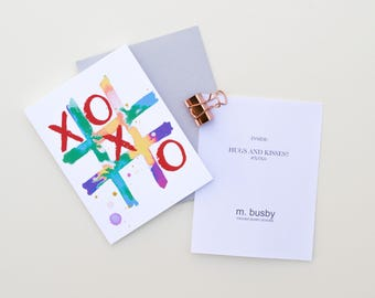 XOXO - Hugs and Kisses Card.