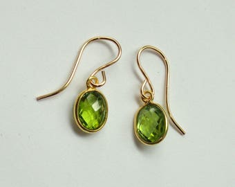earrings misayo lg house stone peridot august