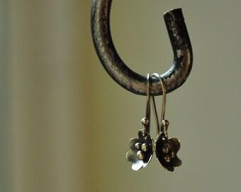 Sterling silver dainty flower earrings
