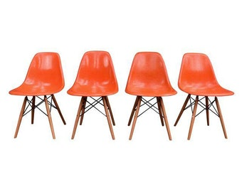 Vintage Mid Century Fiberglass Chairs by Charles Eames for Herman Miller