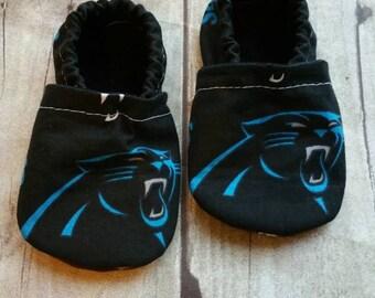 Carolina Panthers Cloth Baby Booties