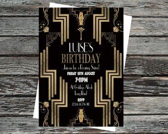 1920s invitations Etsy