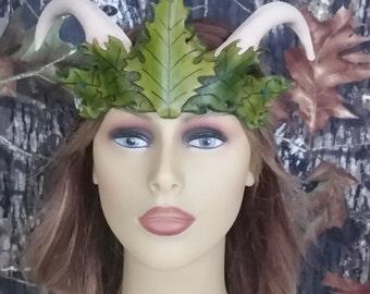 Leaf head head piece with horns