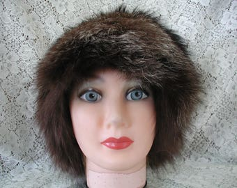 Fox Fur Hat...Black Fox Fur Hat from Saks 5th Avenue