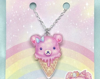 Pink Bearcone Small Necklace