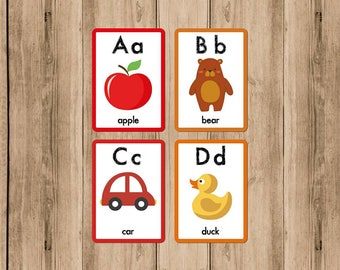 Letters of learning with the illustrated alphabet