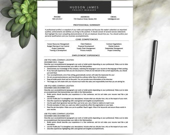 Modern Resume Template for Word / Creative, Modern Resume Design | Modern CV Template for Word | Instant Download Resume Template | Template
