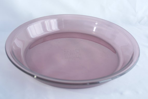 Vintage Pyrex - Pyrex Pie Pan - Pie Plate Pyrex - Cranberry Pyrex - Pie Dish Cranberry - Cranberry Baking Dish - Vintage Pyrex Visions Pink from HildasAttic ... & Vintage Pyrex - Pyrex Pie Pan - Pie Plate Pyrex - Cranberry Pyrex ...