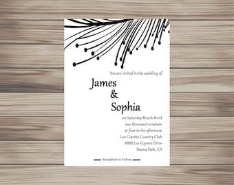 Feathered Wedding Invite