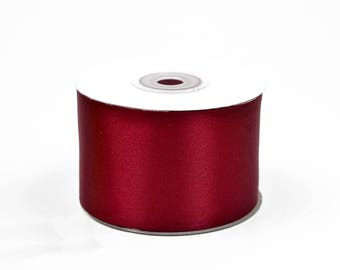 1 meter of 50 large Burgundy ref 270 mm satin ribbon