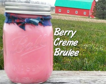 Berry Creme Brulee Soy Candle in 16 oz Jar
