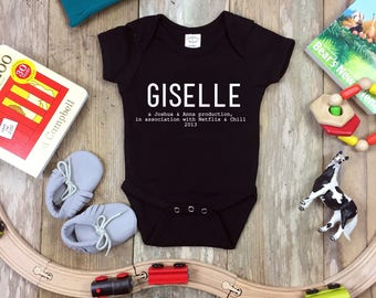 Personalized Pregnancy or Birth Announcement Funny Onesie | Baby & Kids Shirt