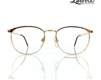 Lurveau® Retro Browline Tort/Maroon Gold Vintage Frame / 1400