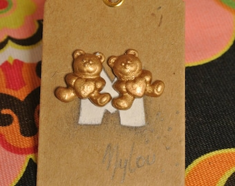 golden heart teddy bear