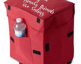Book Rolling Cart // Collapsible // Custom