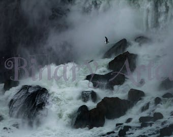 Waterfall Paused- Landscape, Color, Nature Photography, Niagara Falls, Digital Download, Art